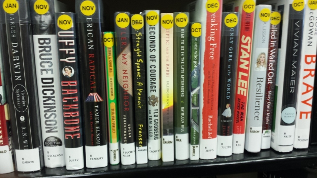 My book on New Nonfiction Shelf at Warren Library, Warren, NJ